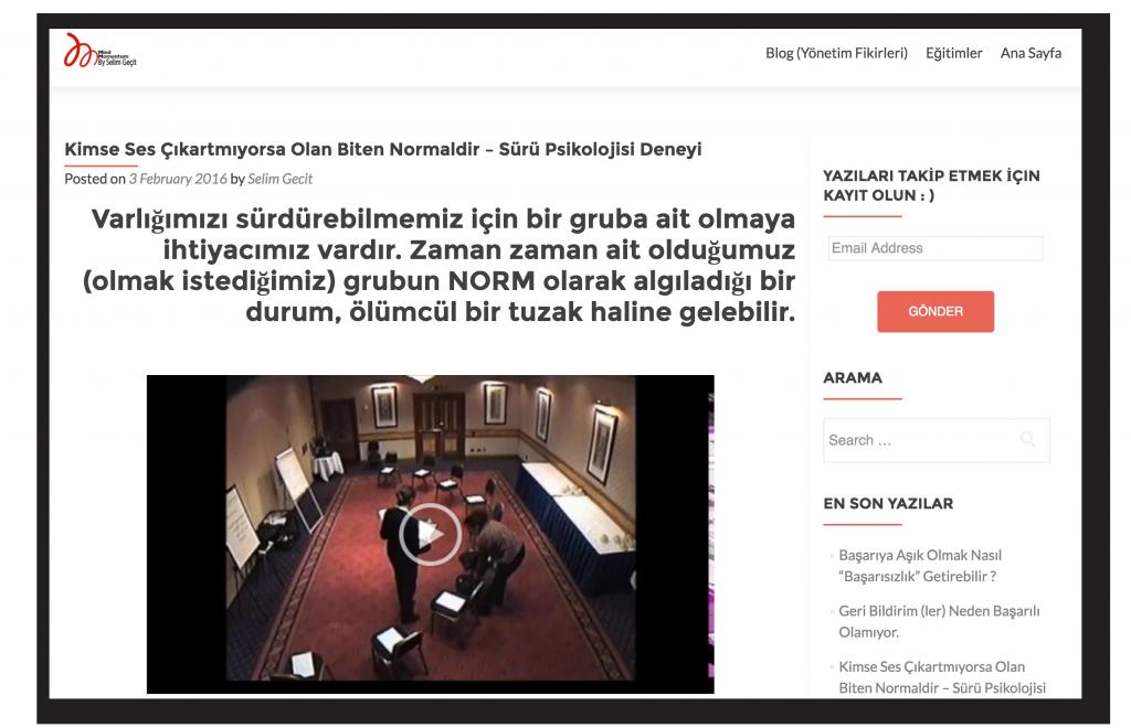 Seyirci Kalma Etkisi Selim Geçit
