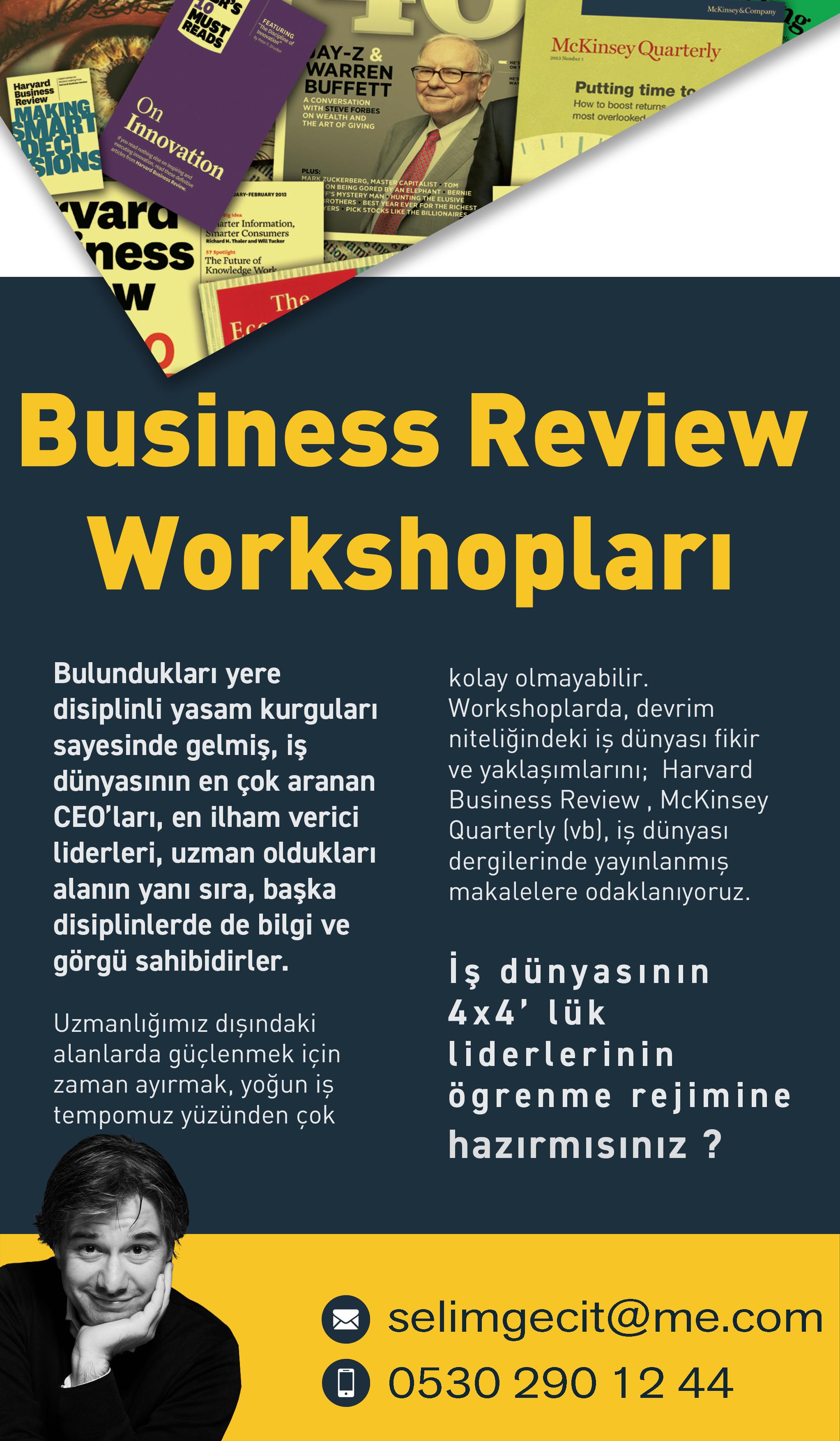 Makale workshopları poster - etkinlik ya da başarı -selim geçit